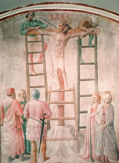 Fra Angelico - Christ Being Nailed to the Cross