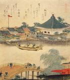 Hokusai - The Shrine Komagata Do in Komagata