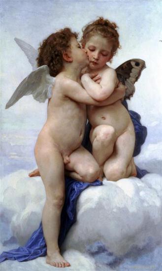 William Bouguereau - First Kiss
