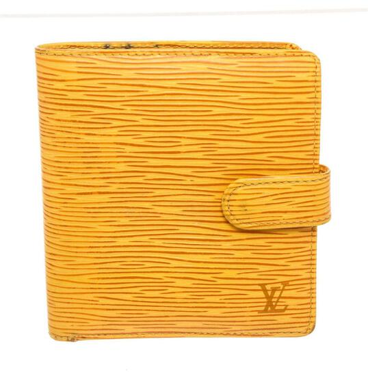 Louis Vuitton Yellow Epi Leather Bifold Wallet