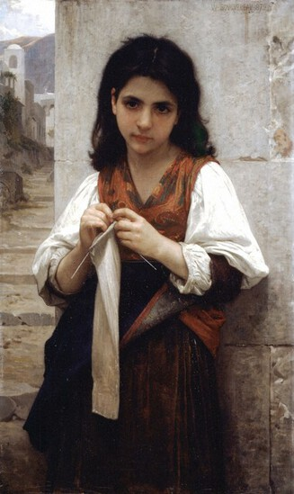 William Bouguereau - Tricoteuse
