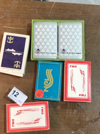 6 Decks of Playing Cards - Airlines and Cruise