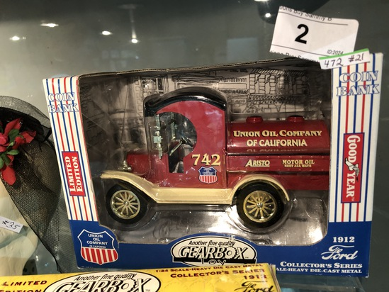 Gearbox Toy Union Oil Truck Bank