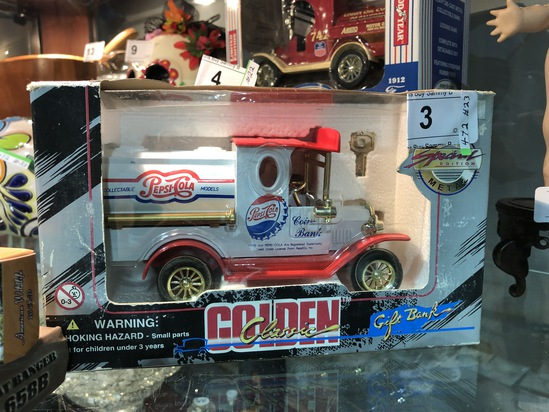 Golden Classic Toy Pepsi-Cola Truck Bank