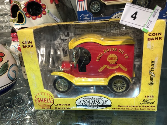 Gearbox Toy Shell Motor Oil Truck Bank