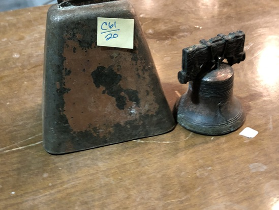 Copper Cow Bell and Liberty Bell