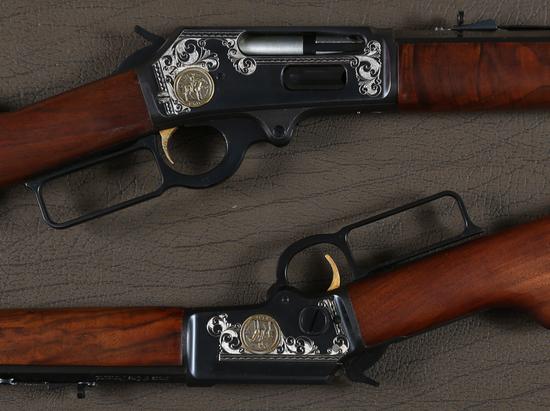 Cased Pair Marlin Presentation Lever Rifles