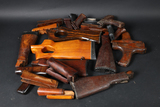 Lot of rifle furniture and parts