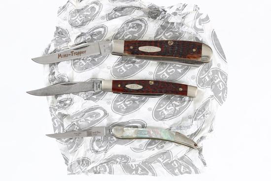 Lot of 3 Case XX knives