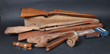 Lot of various rifle furniture