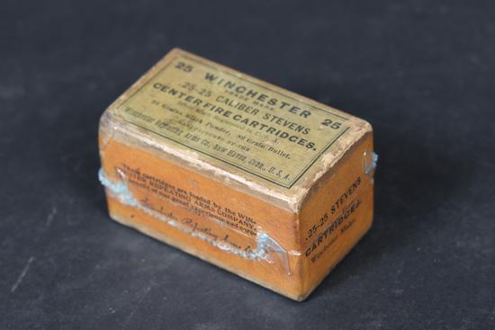 Vintage Winchester .25-25 Stevens ammo