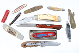 Lot of 12 folding blade knives