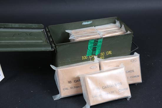 8 bxs .50 BMG ammo
