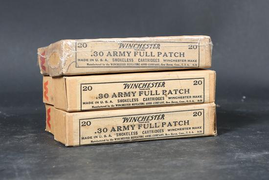 3 bxs Winchester .30-40 krag ammo