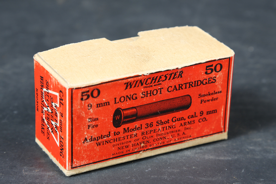 Vintage Winchester 9mm long shot ammo