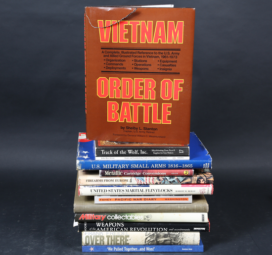 13 War and Firearms books