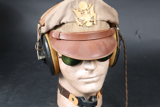 Military crusher cap and Headphones