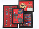 Military pins and patches