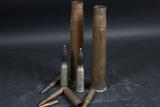 2 Brass Shells w/ inert ammo