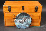 Wooden display chest