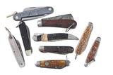 Lot of 9 folding knives