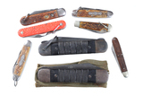 Lot of 8 folding knives