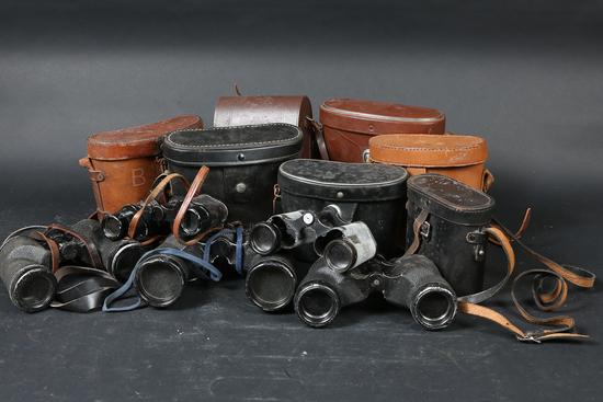 Lot of binoculars & cases