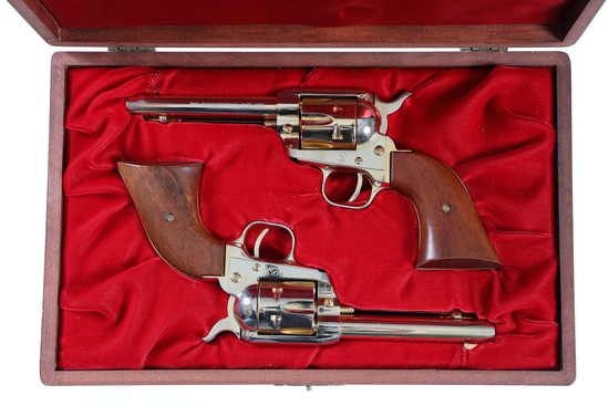 Cased Pair of Colt Centennial Frontier Scout Revolvers .22 lr