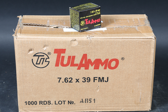 Case of 7.62x39 FMJ Ammo