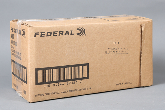 Case of Federal 5.56mm Nato ammo