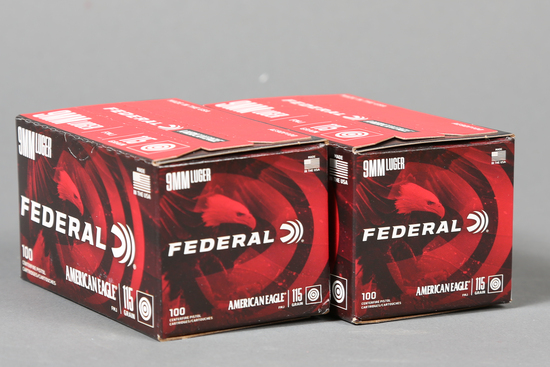 2 bxs Federal 9mm Luger ammo