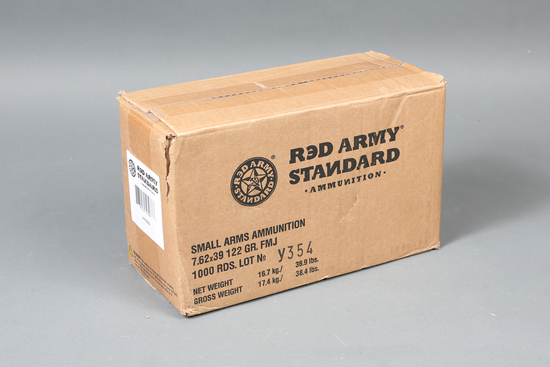Case of 7.62x39 Red Army Ammo