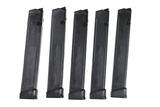 5 Glock 9mm Magazines
