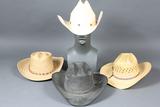 4 Straw Cowboy Hats