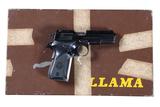 Llama IIIA Pistol .380 ACP