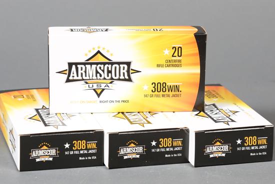 4 bxs Armscor .308 win ammo