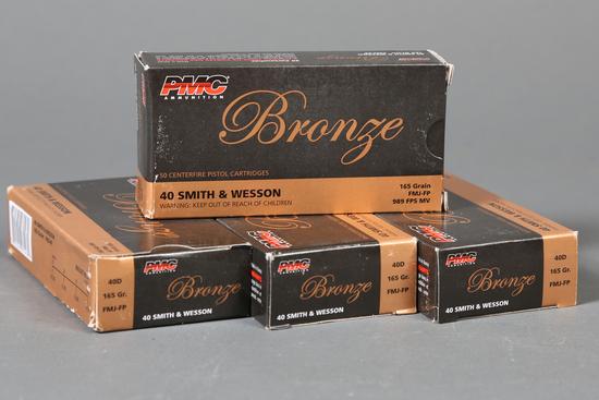 4 bxs PMC Bronze .40 s&w ammo