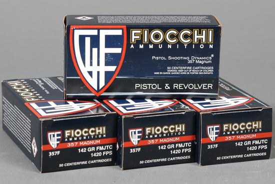 4 bxs Fiocchi .357 mag ammo
