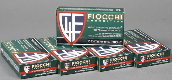 5 bxs Fiocchi .308 win ammo