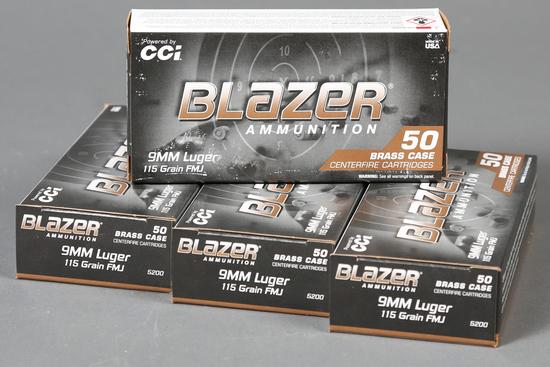 4 bxs CCI Blazer 9mm ammo