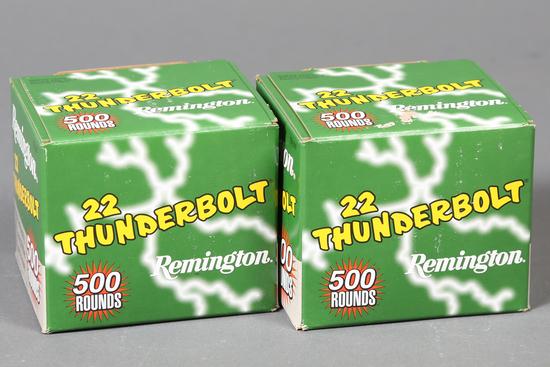 2 LG bxs Remington .22 lr Thunderbolt ammo