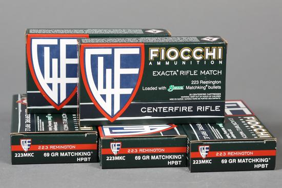 5 bxs Fiocchi .223 rem ammo