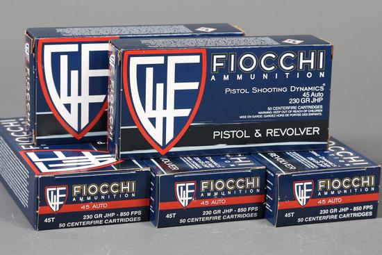 5 bxs Fiocchi .45 ACP ammo