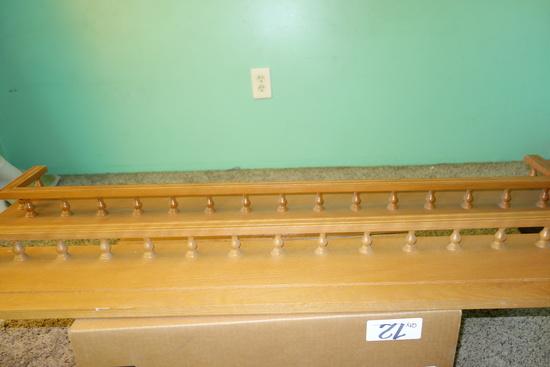 Wood Plate Rack Shelves Set Of 2