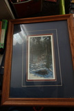 Wolf Art Print Framed And Matted
