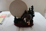 Bradford Exchange Mysteries Of The Wild Wolf Sculpture Moonbeam Magic