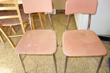 Vintage Hey Woodite Pink Plastic Chairs Set Of 2