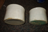 Set Of Two Pottery Crocks