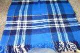 Faribo Vintage Acrylic Vintage Blanket Blue Plaid