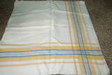 Vintage Tablecloth Yellow And Blue